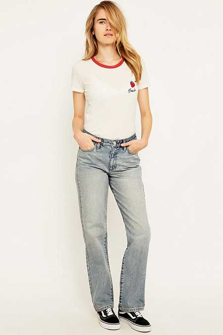 BDG Slouch High Waisted Blue Wide Leg Jeans