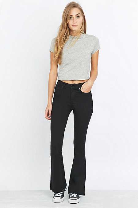 BDG Slim Line Black Flared Jeans