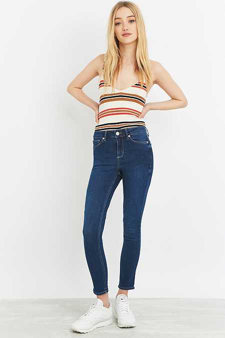 BDG Breeze Mid-Rise Clean Indigo Skinny Jeans