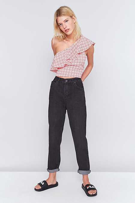BDG Worn Black Mom Jeans