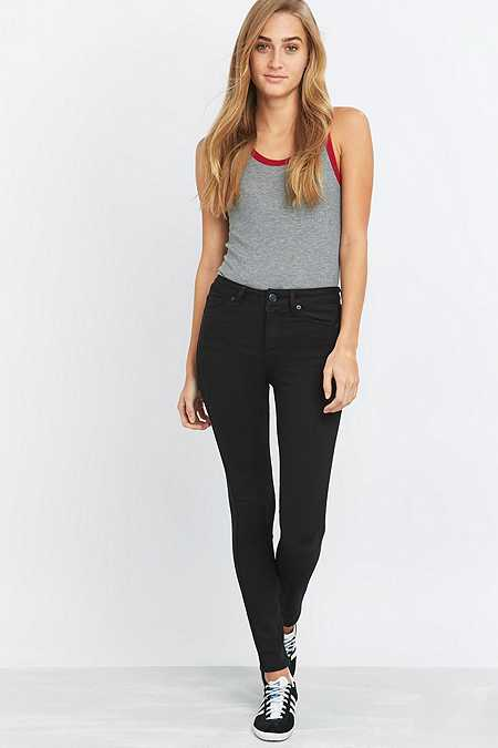 BDG Breeze Mid-Rise Clean Black Skinny Jeans