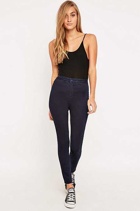 BDG Hub Ultra High-Waisted Indigo Skinny Jeans