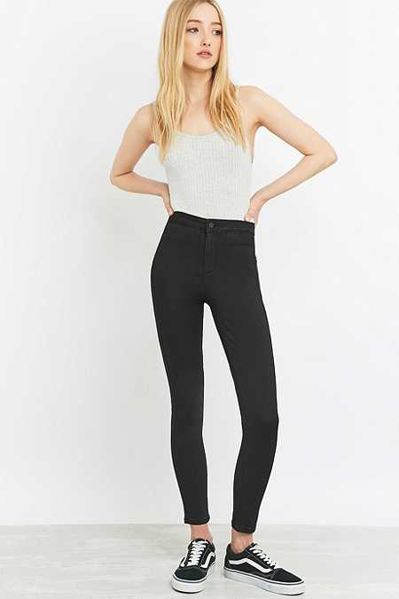 BDG Hub Ultra High-Waisted Cropped Black Skinny Jeans