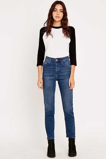 BDG Girlfriend Indigo Straight Leg Jeans