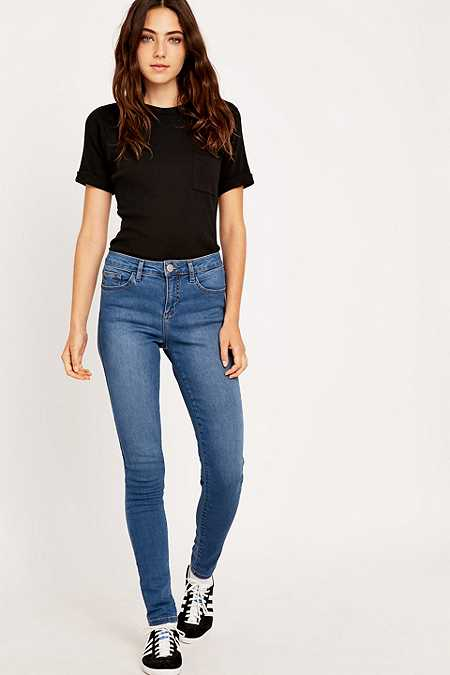 BDG Cigarette Mid-Rise Light Blue Skinny Jeans