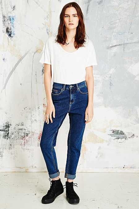 BDG Stretch Mom Jeans in Indigo