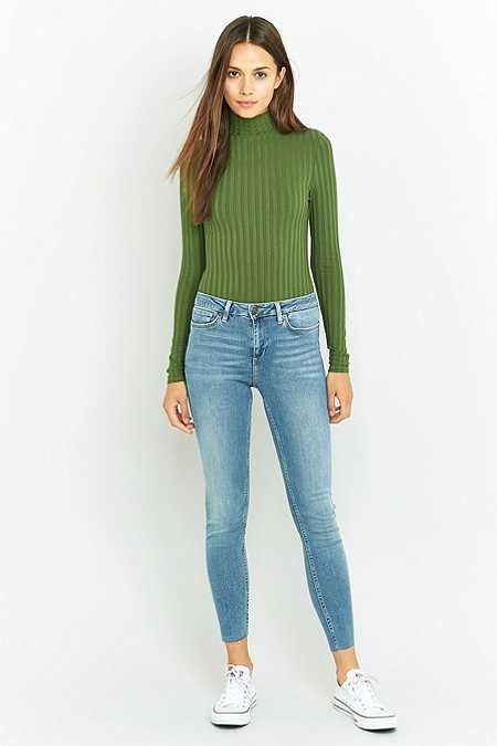 BDG Breeze Mid-Rise Light Blue Cropped Skinny Jeans