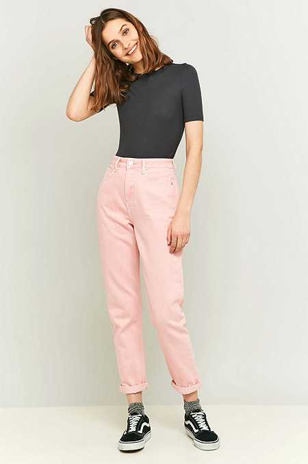 BDG Worn Pink Mom Jeans
