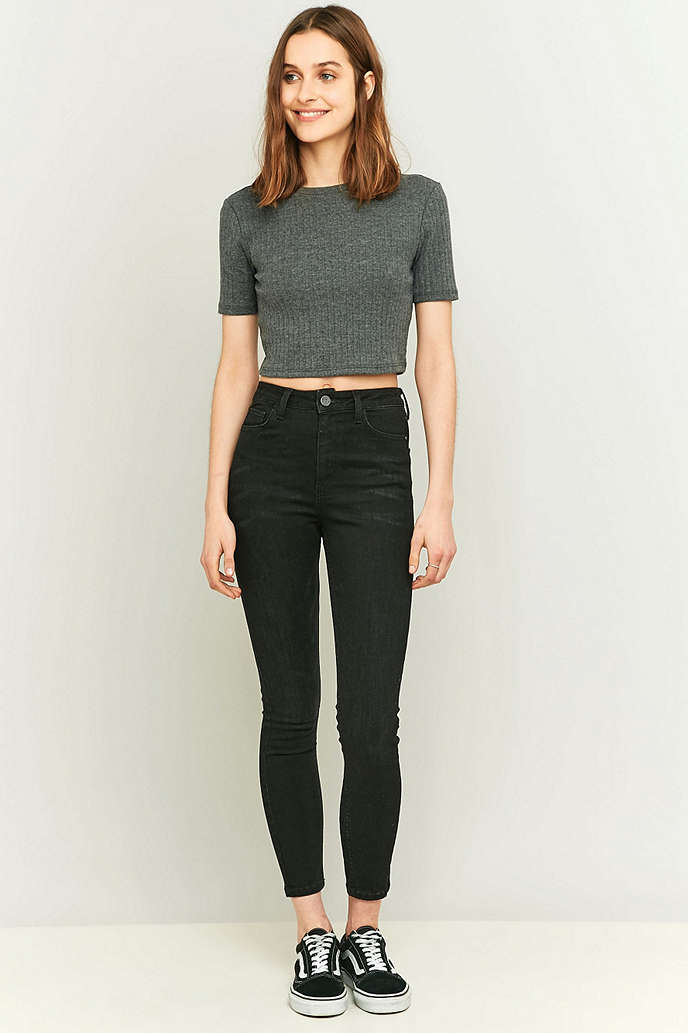 BDG Pine High-Waisted Vintage Black Super Skinny Jeans - Urban Outfitters