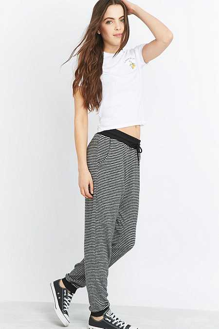 Out From Under Cosy Striped Joggers