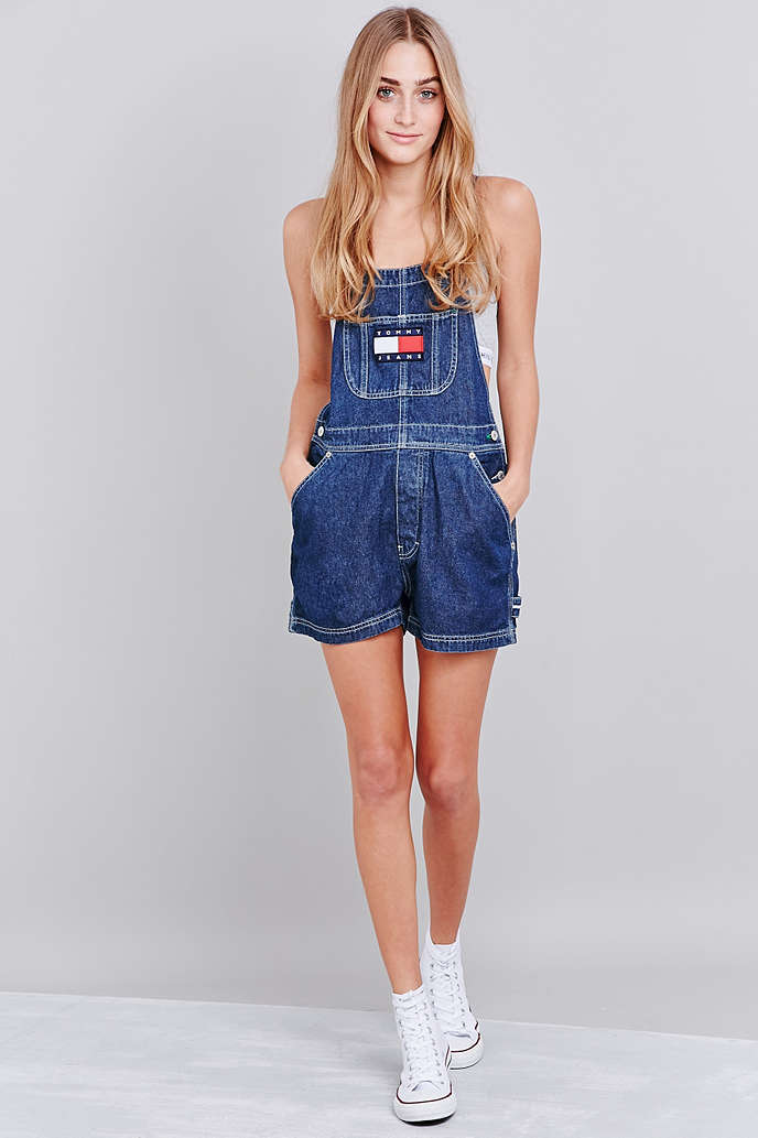 8fe112158fb UO EXCLUSIVE TOMMY JEANS CLASSIC BLUE DUNGAREES - URBAN OUTFITTERS on The  Hunt