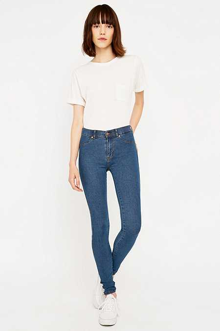 "Dr. Denim – Mid-Rise-Skinny-Jeans ""Plenty"" in Stone-Waschung"