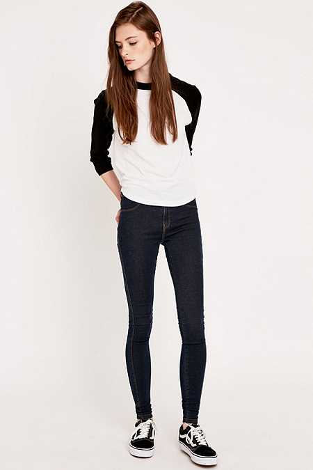 Dr. Denim Plenty Dark Stone Skinny Jeans