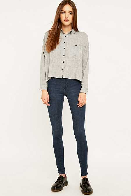 Dr. Denim Plenty Dull Blue Skinny Jeans
