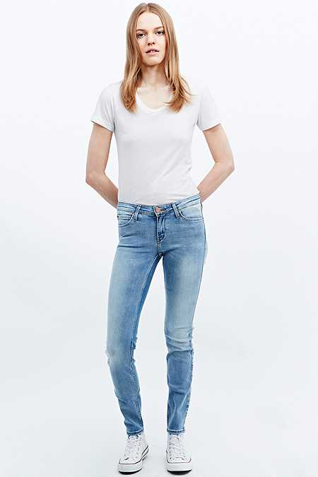 Lee Scarlett Regular-Waist Ice Blue Skinny Jeans