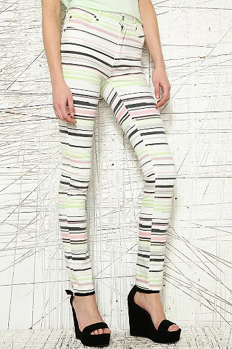 Cheap Monday Multi Stripe Second Skin Jeans