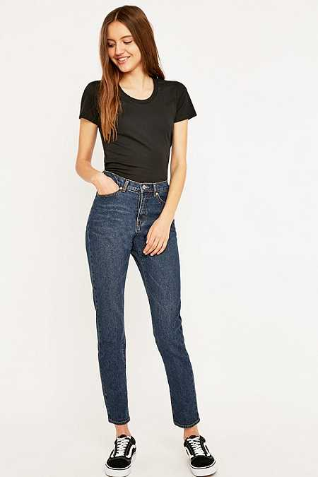 Cheap Monday Donna Rewind Blue Straight Leg Jeans
