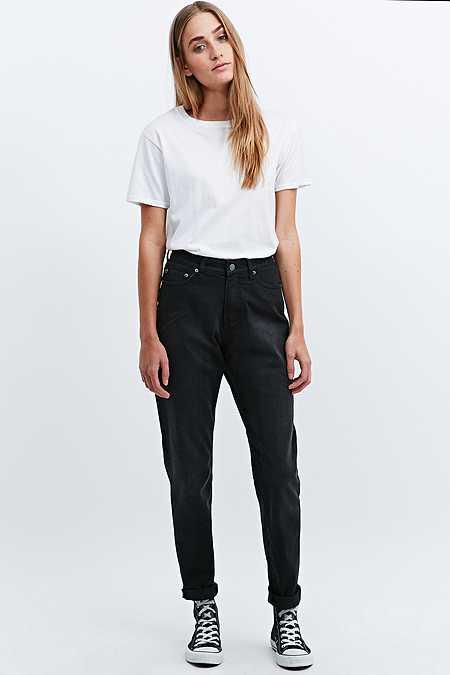 """Cheap Monday – Jeans """"Donna"""" in gewaschenem Schwarz"""