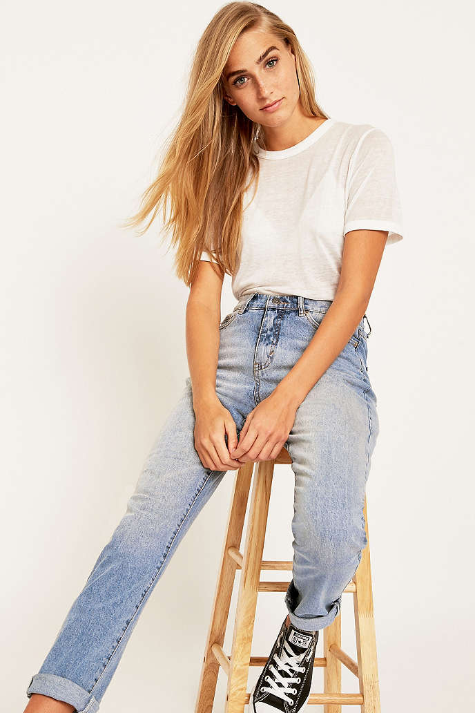 Cheap Monday Donna Mid Blue Straight Leg Jeans - Urban Outfitters