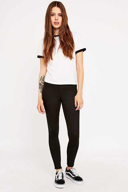 Cheap Monday Spray On High Waisted Black Skinny Jeans
