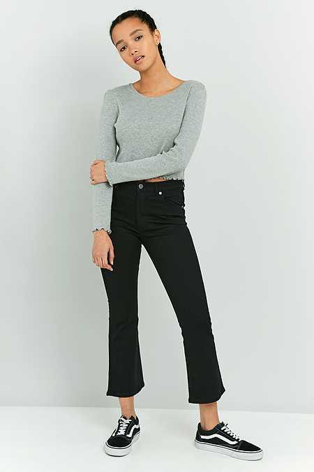 Cheap Monday Black Drift Kick Flare Jeans