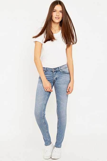 Cheap Monday Narrow Stonewash Blue Skinny Jeans
