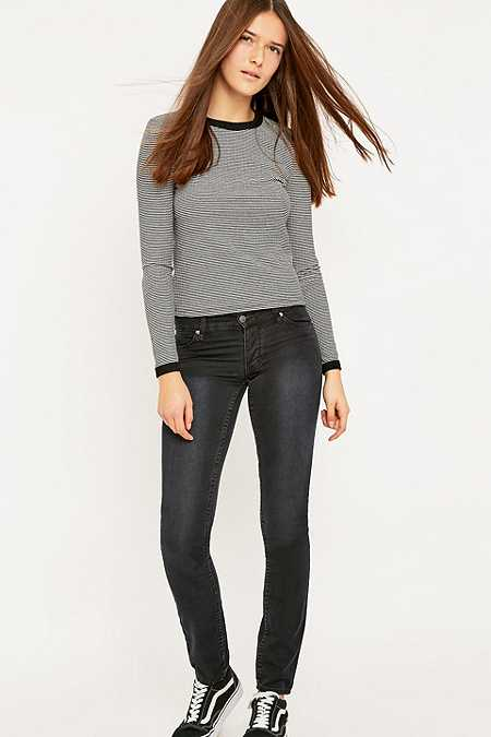 Cheap Monday Narrow Tonki Used Black Skinny Jeans