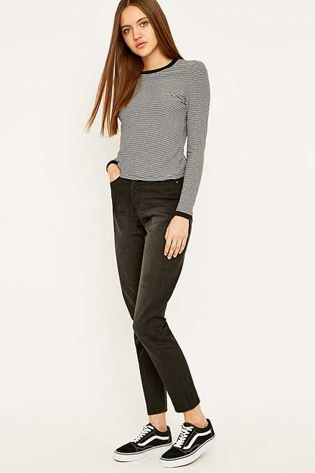 Cheap Monday Donna Haze Washed Black Straight Leg Jeans