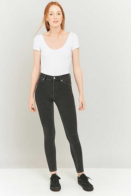 Cheap Monday High Spray On Overdyed Grey Skinny Jeans