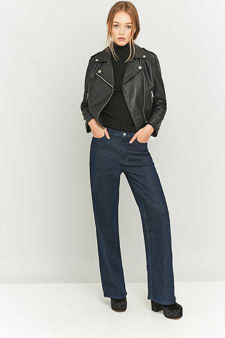 Cheap Monday A-line Relaxed Blue Flared Jeans