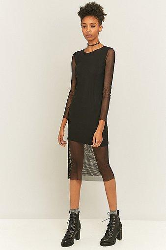 Sparkle fade black fishnet midi dress urban outfitters - Bon de reduction urban outfitters ...
