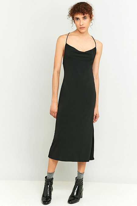 Black dress zip back ballet