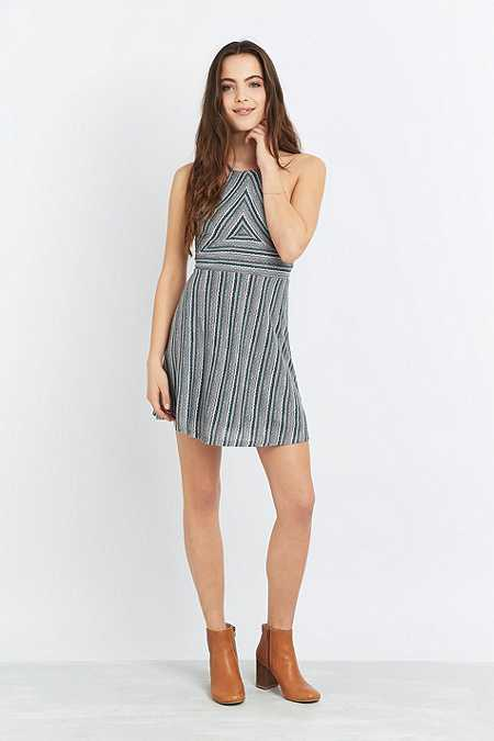 Urban Outfitters Seamed Halter Neck Mini Dress