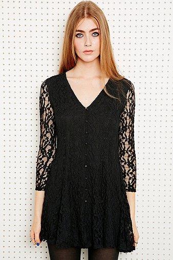 Pins & Needles Lace V-Neck Dress