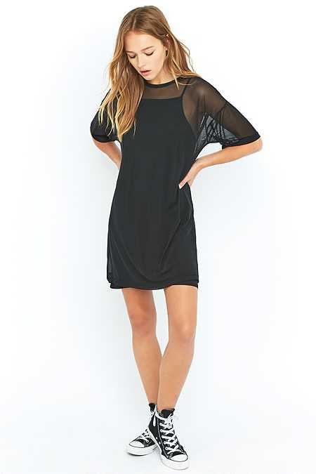 Sparkle & Fade Mesh T-shirt Dress