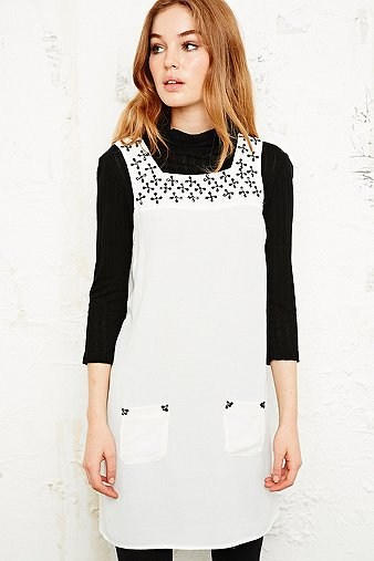 Cooperative Embellished Strap Pinafore Dress