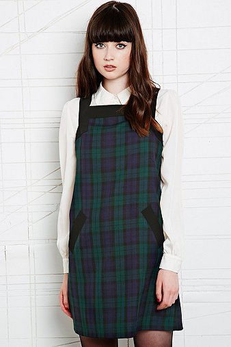Cooperative Pinafore Dress in Tartan