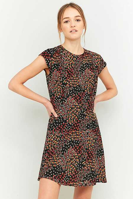 Urban Outfitters Daytime Black Printed Dress