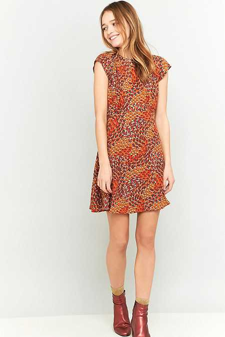 Urban Outfitters - Robe Daytime motif floral beige