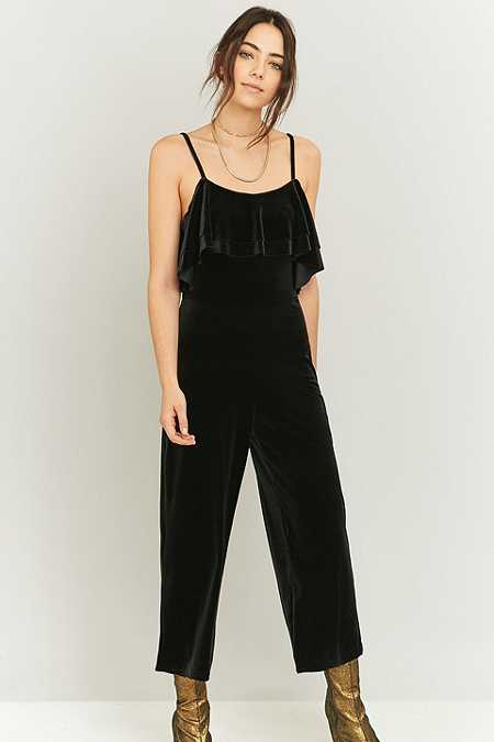 Pins & Needles Velvet Frill Jumpsuit