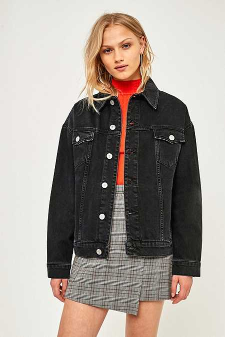 BDG Oversized Black Denim Jacket