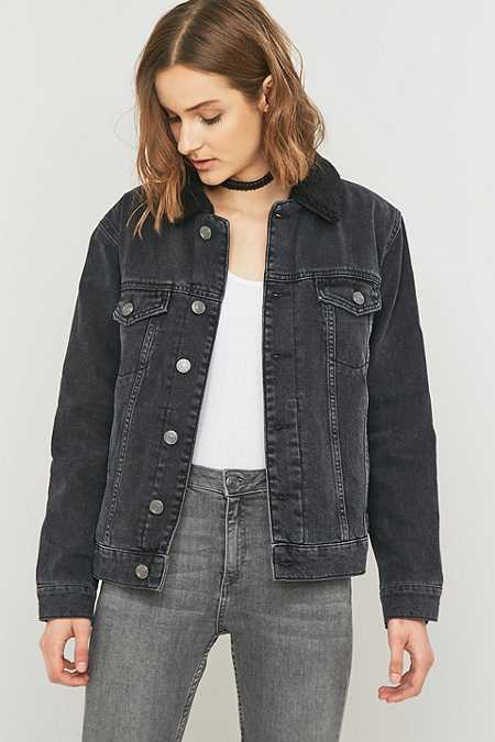 Ladies Black Jean Jacket DwY3RF