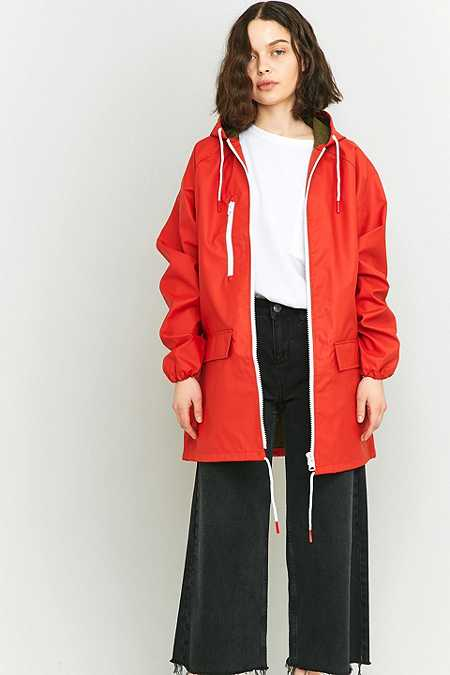BDG Oversized Fisherman Red Anorak