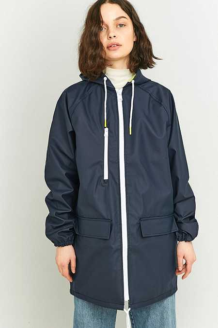 BDG Oversized Fisherman Navy Anorak