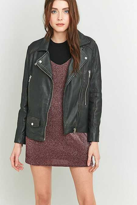 Light Before Dark Black Leather Biker Jacket