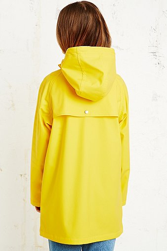 BDG Fisherman Rain Jacket in Yellow