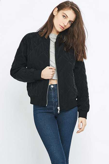 Womens Navy Bomber Jacket