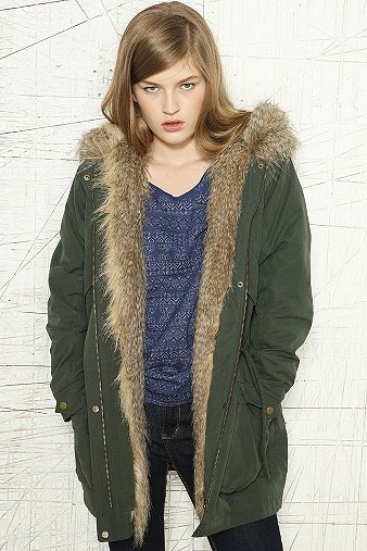 GX BDG FUR HOODED JACKET