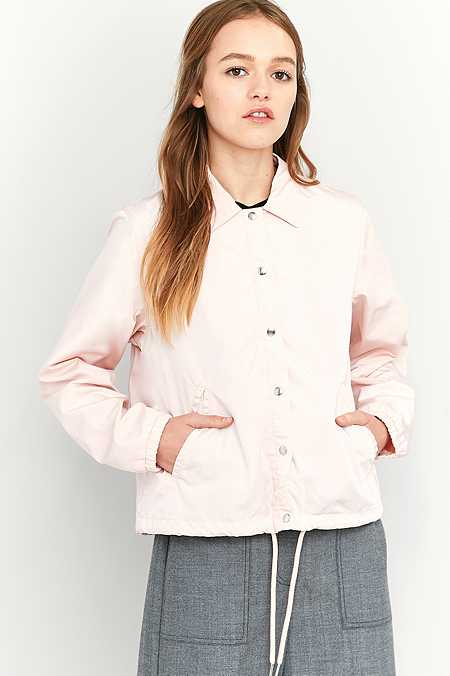 BDG Cropped Pink Coach Jacket