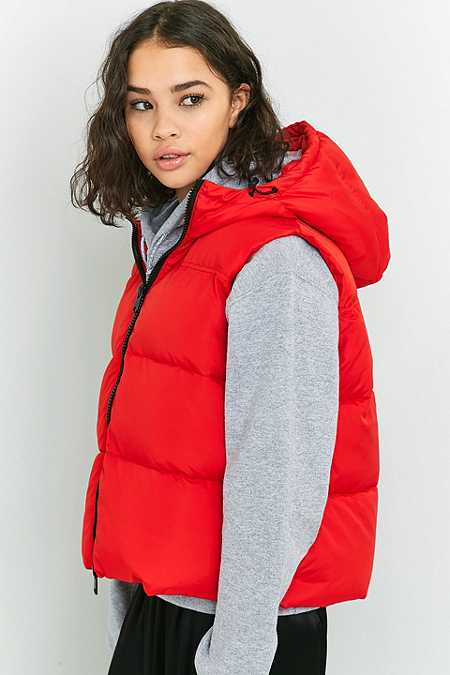 Light Before Dark Hooded Sleeveless Puffer Jacket